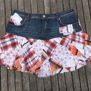 Buffalo Jeans Vintage Daisy Duke Patch Mini Skirt